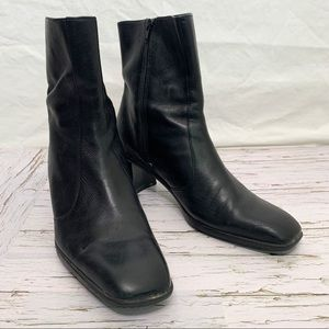 Rockport / Soft Block Heel Leather Boots
